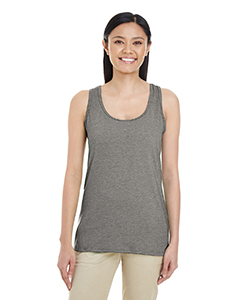 Graphite Heather Ladies' Softstyle®  4.5 oz Racerback Tank