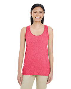 Heather Red Ladies' Softstyle®  4.5 oz Racerback Tank