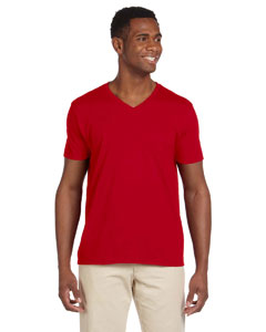 Cherry Red Adult Softstyle® 4.5 oz. V-Neck T-Shirt