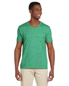 Hthr Irish Green Adult Softstyle® 4.5 oz. V-Neck T-Shirt