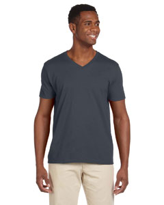 Charcoal Softstyle® 4.5 oz. V-Neck T-Shirt