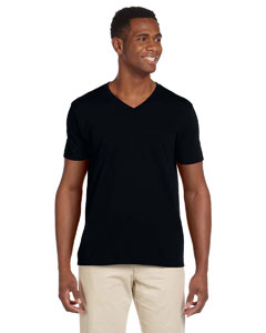 Black Adult Softstyle® 4.5 oz. V-Neck T-Shirt
