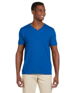 Royal Blue Adult Softstyle® 4.5 oz. V-Neck T-Shirt