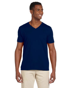 Navy Adult Softstyle® 4.5 oz. V-Neck T-Shirt
