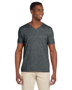 Dark Heather Adult Softstyle® 4.5 oz. V-Neck T-Shirt