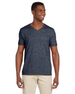 Heather Navy Adult Softstyle® 4.5 oz. V-Neck T-Shirt