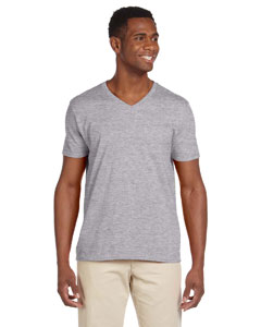 Sport Grey Adult Softstyle® 4.5 oz. V-Neck T-Shirt