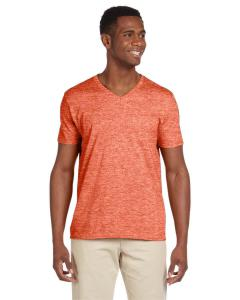 Heather Orange Adult Softstyle® 4.5 oz. V-Neck T-Shirt