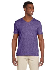 Heather Purple Adult Softstyle® 4.5 oz. V-Neck T-Shirt
