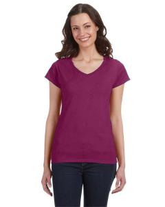 Berry Ladies' SoftStyle® 4.5 oz. Fitted V-Neck T-Shirt