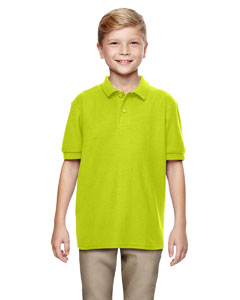 Safety Green DryBlend® Youth 6.3 oz. Double Piqué Sport Shirt