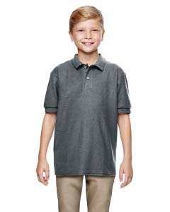 Dark Heather DryBlend® Youth 6.3 oz. Double Piqué Sport Shirt
