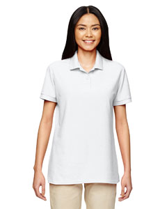 White DryBlend® Ladies' 6.3 oz. Double Piqué Sport Shirt