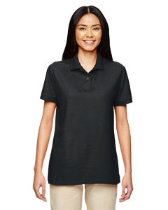 Black DryBlend® Ladies' 6.3 oz. Double Piqué Sport Shirt