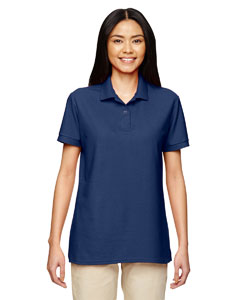 Navy DryBlend® Ladies' 6.3 oz. Double Piqué Sport Shirt