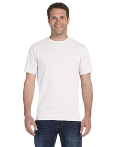 White Adult Unisex 5.5 oz., 50/50 T-Shirt