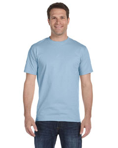 Light Blue Adult Unisex 5.5 oz., 50/50 T-Shirt