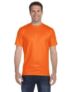 S Orange Adult Unisex 5.5 oz., 50/50 T-Shirt