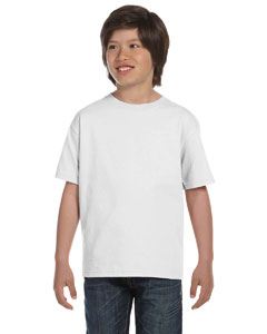 White DryBlend®  Youth 5.6 oz., 50/50 T-Shirt
