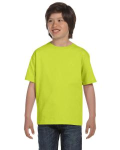 Safety Green DryBlend®  Youth 5.6 oz., 50/50 T-Shirt