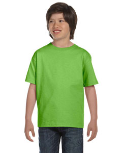 Lime DryBlend®  Youth 5.6 oz., 50/50 T-Shirt