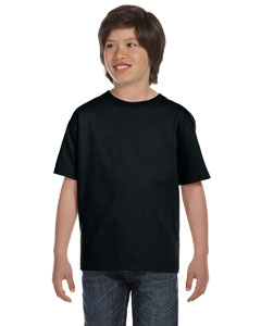 Black DryBlend®  Youth 5.6 oz., 50/50 T-Shirt