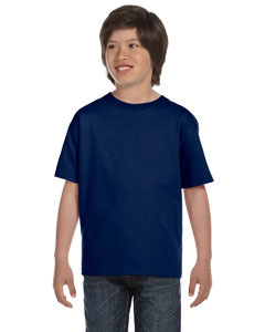 Navy DryBlend®  Youth 5.6 oz., 50/50 T-Shirt