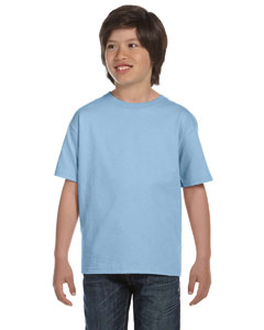 Light Blue DryBlend®  Youth 5.6 oz., 50/50 T-Shirt