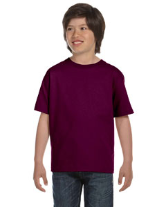 Maroon DryBlend®  Youth 5.6 oz., 50/50 T-Shirt
