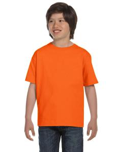 S Orange DryBlend®  Youth 5.6 oz., 50/50 T-Shirt