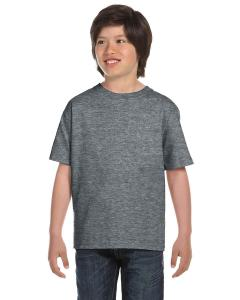 Graphite Heather DryBlend®  Youth 5.6 oz., 50/50 T-Shirt