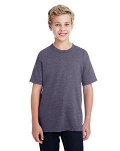 Ht Sprt Drk Navy DryBlend®  Youth 5.6 oz., 50/50 T-Shirt