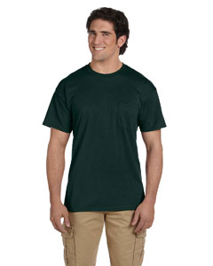 Forest Green DryBlend™ 5.6 oz., 50/50 Pocket T-Shirt