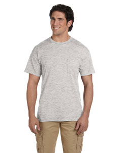 Ash Grey DryBlend™ 5.6 oz., 50/50 Pocket T-Shirt