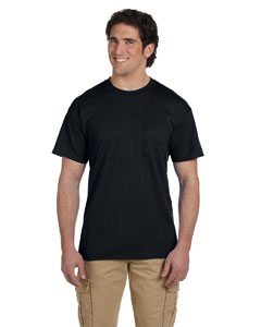 Black DryBlend™ 5.6 oz., 50/50 Pocket T-Shirt