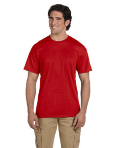 Red DryBlend™ 5.6 oz., 50/50 Pocket T-Shirt