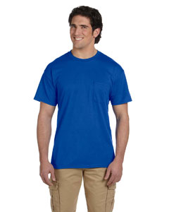 Royal DryBlend™ 5.6 oz., 50/50 Pocket T-Shirt
