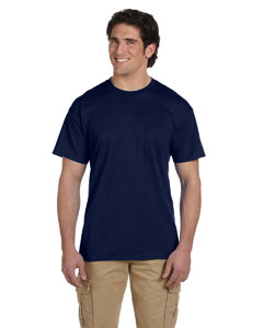 Navy DryBlend™ 5.6 oz., 50/50 Pocket T-Shirt