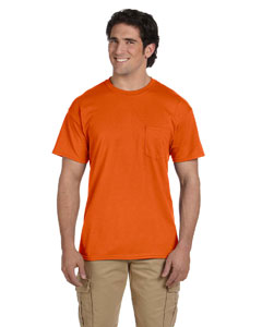 Orange DryBlend™ 5.6 oz., 50/50 Pocket T-Shirt