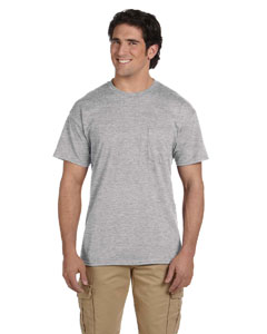 Sport Grey DryBlend™ 5.6 oz., 50/50 Pocket T-Shirt