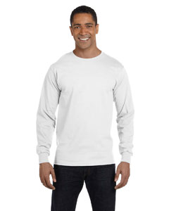 White DryBlend™ 5.6 oz., 50/50 Long-Sleeve T-Shirt