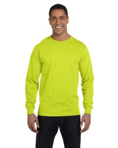 Safety Green DryBlend™ 5.6 oz., 50/50 Long-Sleeve T-Shirt