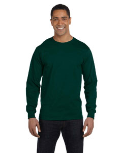 Forest Green Adult 5.5 oz., 50/50 Long-Sleeve T-Shirt