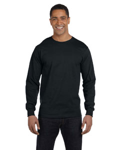 Black DryBlend™ 5.6 oz., 50/50 Long-Sleeve T-Shirt