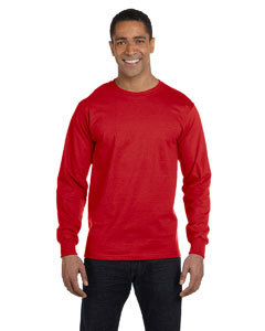 Red Adult 5.5 oz., 50/50 Long-Sleeve T-Shirt