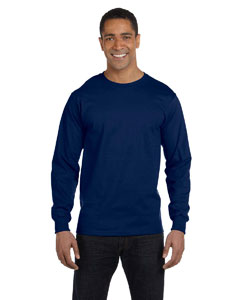 Navy DryBlend™ 5.6 oz., 50/50 Long-Sleeve T-Shirt