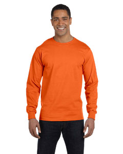 Orange Adult 5.5 oz., 50/50 Long-Sleeve T-Shirt