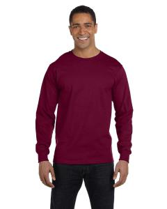 Maroon Adult 5.5 oz., 50/50 Long-Sleeve T-Shirt