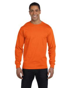 S Orange Adult 5.5 oz., 50/50 Long-Sleeve T-Shirt