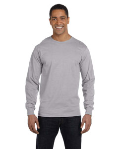 Sport Grey Adult 5.5 oz., 50/50 Long-Sleeve T-Shirt